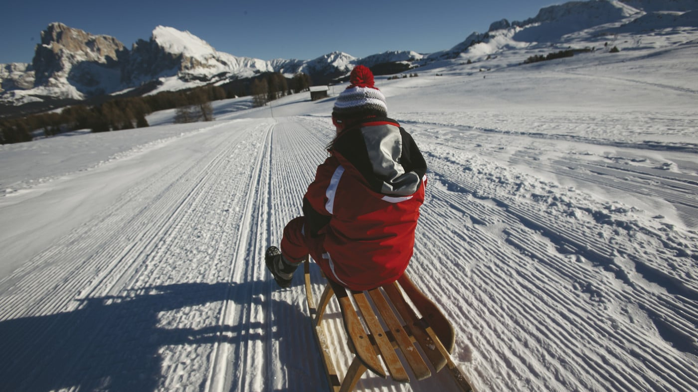 Tobogganing in Val Casies
